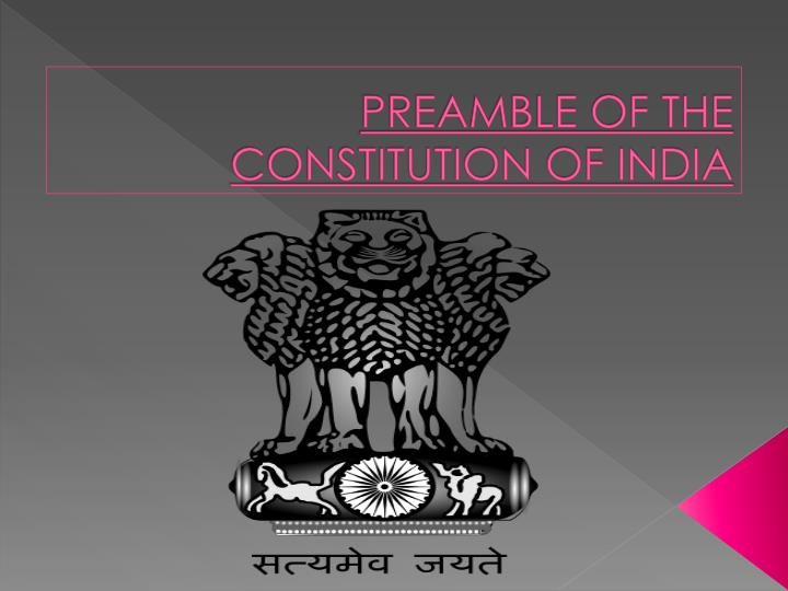 preamble of the constitution of india n.