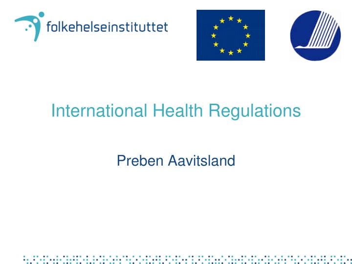 international health regulations n.