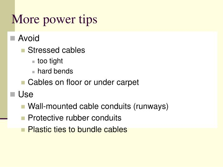 More power tips