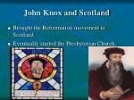 john knox and scotland