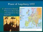 peace of augsburg 1555