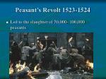 peasant s revolt 1523 1524