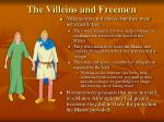 the villeins and freemen