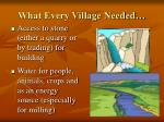 what every village needed1