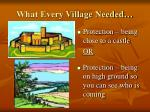 what every village needed2