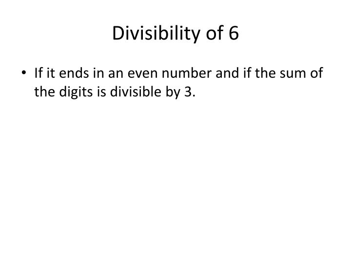 Divisibility of 6
