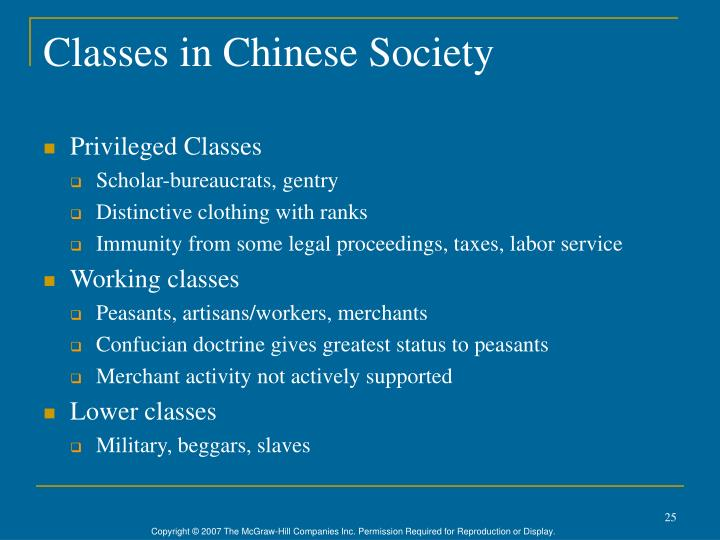 Classes in Chinese Society