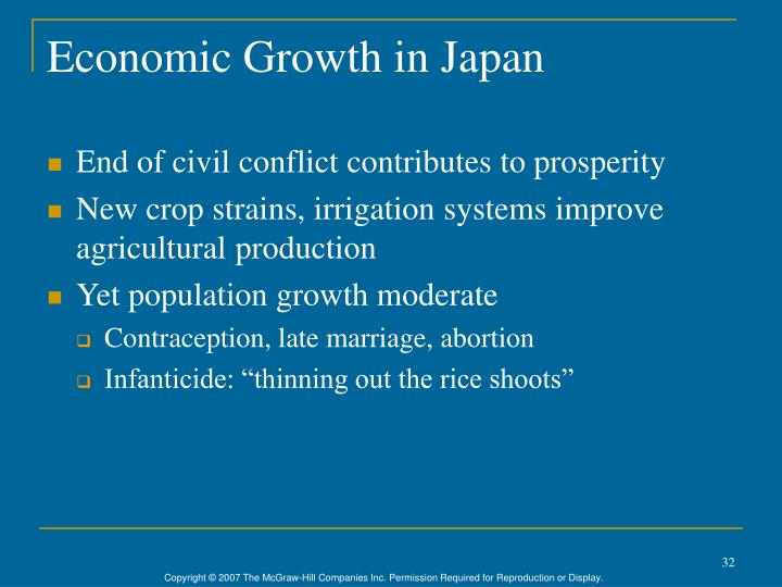 Economic Growth in Japan