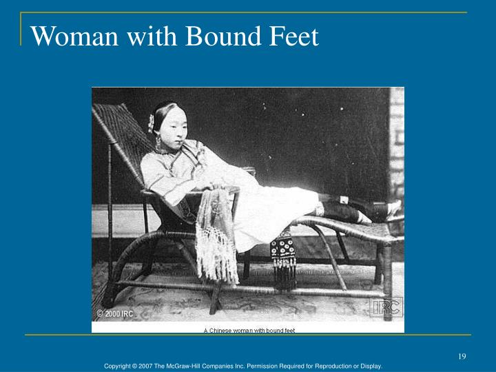 Woman with Bound Feet