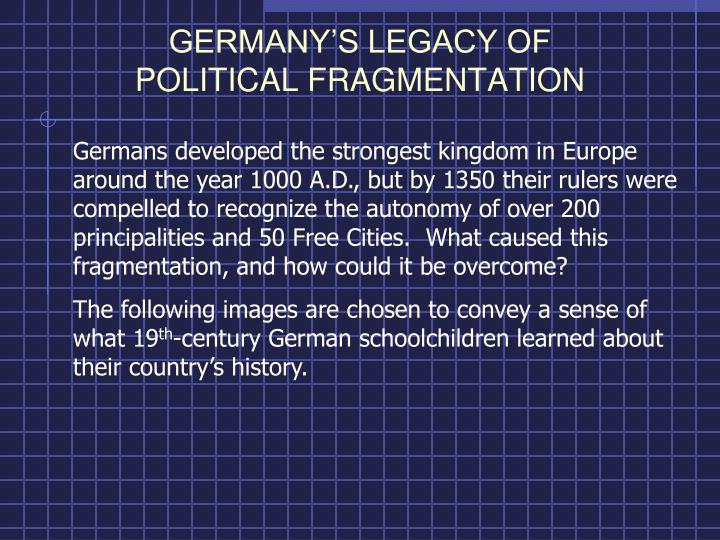 germany experienced a period of political This article sketches the beginnings and central trends in the development of economic ties between europe and regions outside europe from 1450 to 1950.