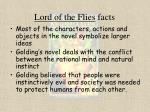 lord of the flies facts