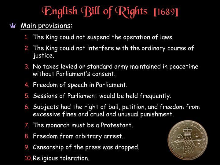 English Bill of Rights  [