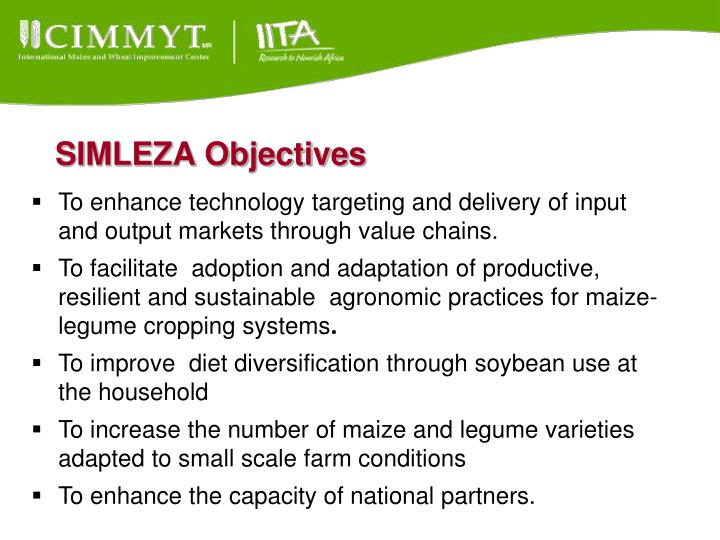 SIMLEZA Objectives