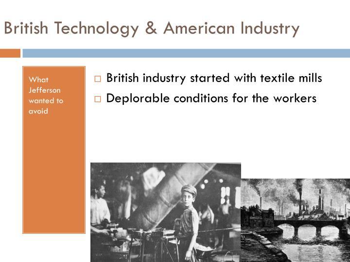 British Technology & American Industry