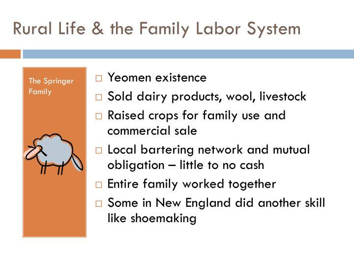 Rural life the family labor system