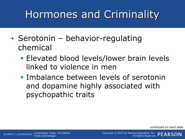 Hormones and Criminality