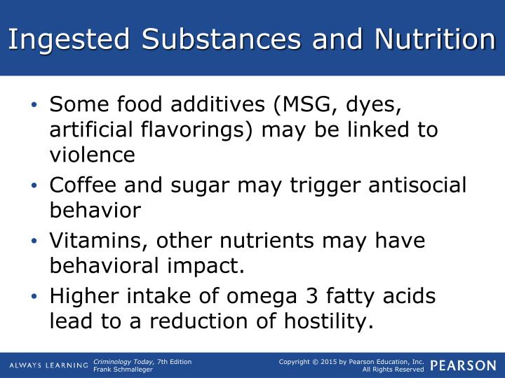 Ingested Substances and Nutrition