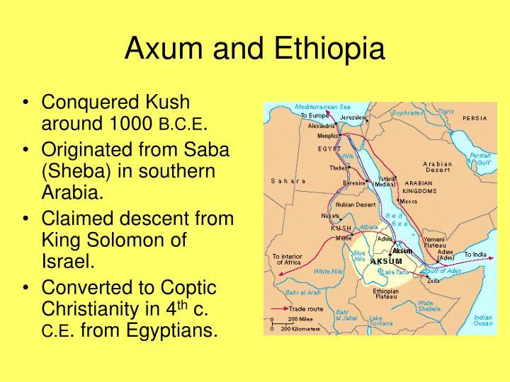 Axum and Ethiopia