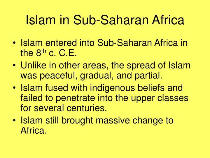 Islam in Sub-Saharan Africa