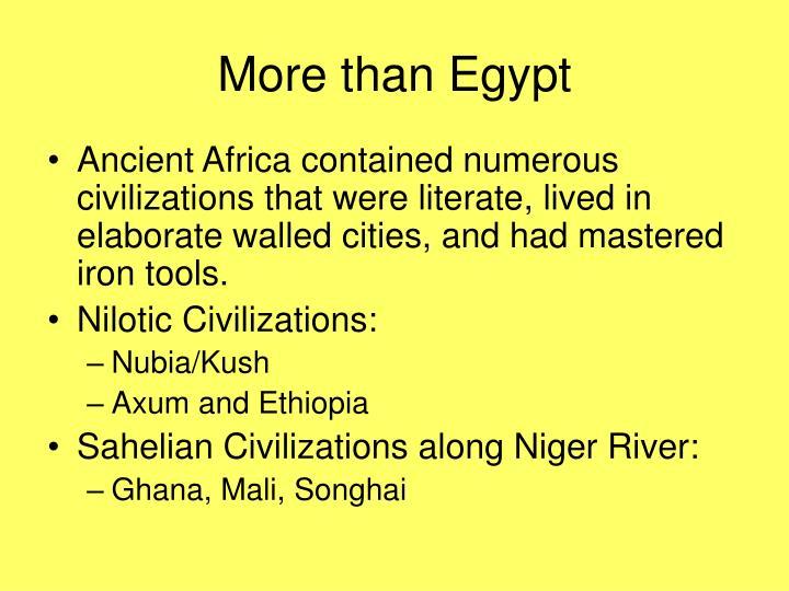 More than Egypt