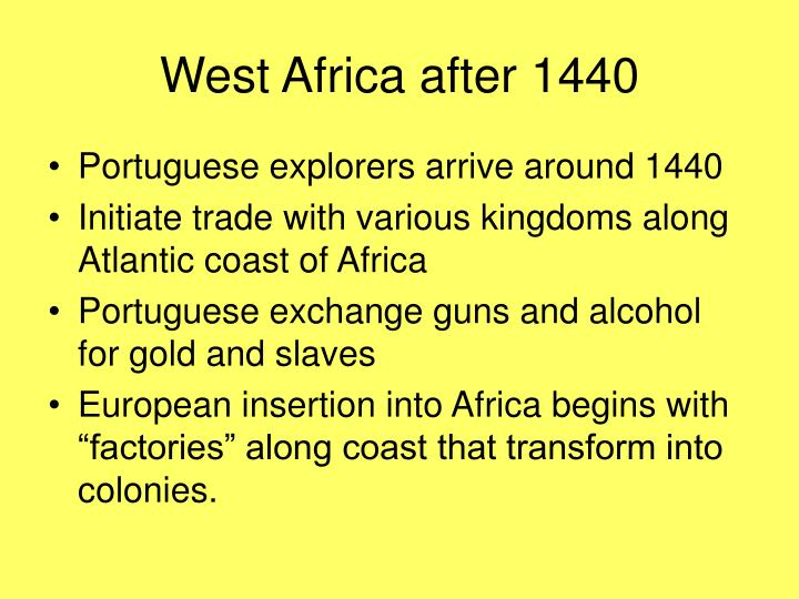 West Africa after 1440