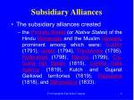 subsidiary alliances