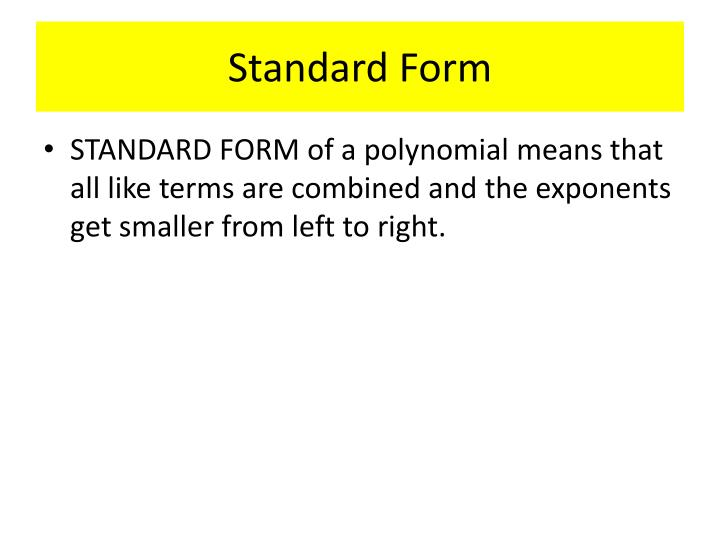 Ppt Naming Polynomials Powerpoint Presentation Id6445834