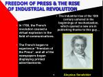 freedom of press the rise of industrial revolution