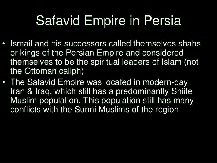 Safavid Empire in Persia