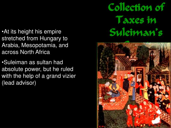 Collection of Taxes in Suleiman's Court