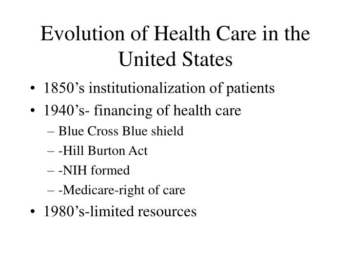 Evolution of Health Care in the United States
