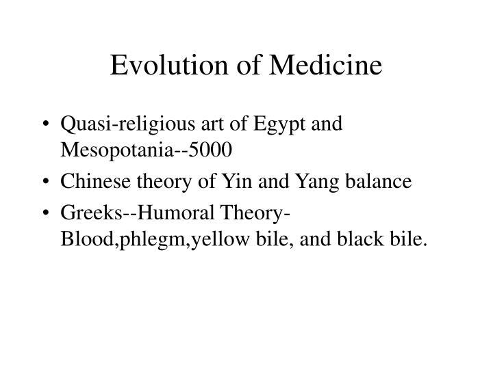 Evolution of medicine