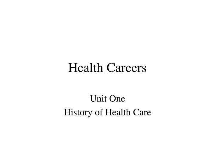 Health careers