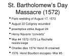 st bartholomew s day massacre 1572