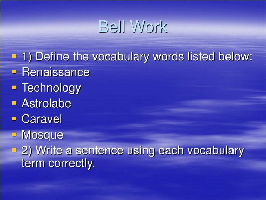 PPT - Bell Work 9/15 PowerPoint Presentation, free download