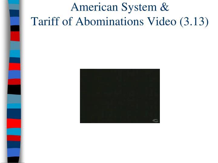 American System &