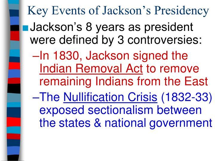 Key Events of Jackson's Presidency
