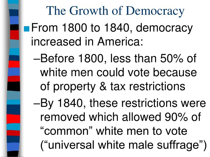 The growth of democracy