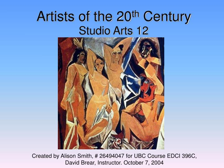 artists of the 20 th century n.