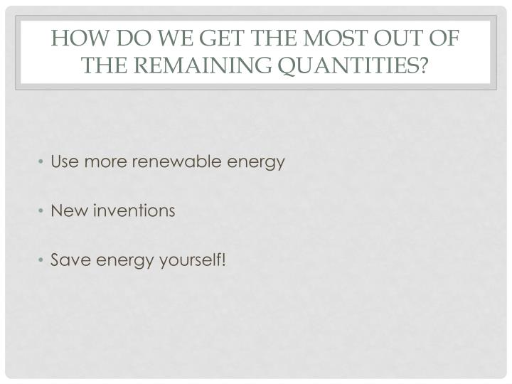 Use more renewable energy