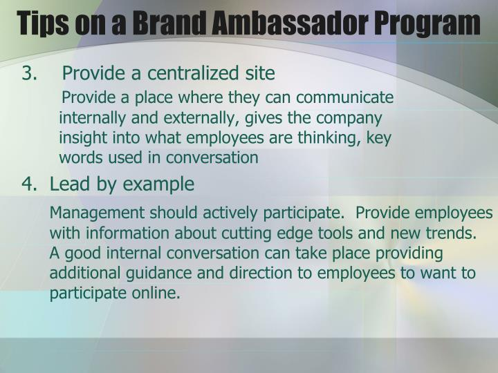 Tips on a Brand Ambassador Program
