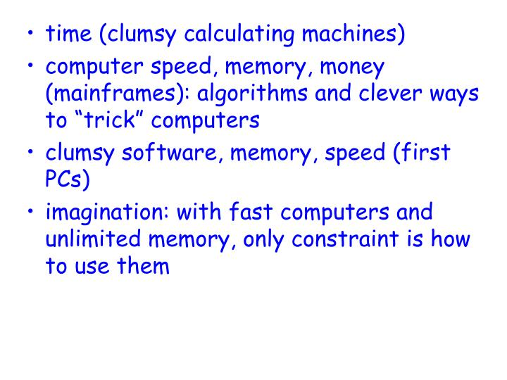 time (clumsy calculating machines)