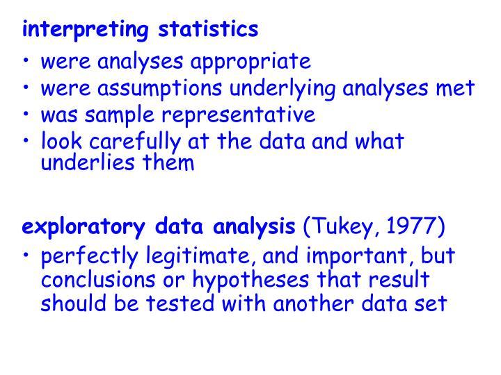 interpreting statistics