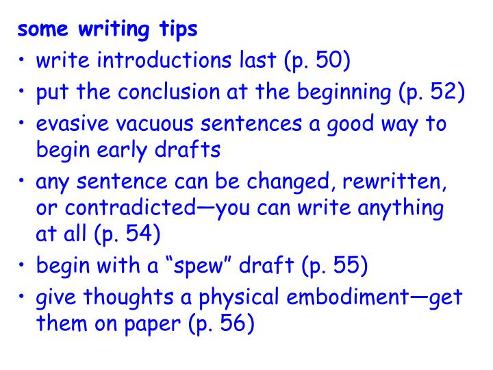 some writing tips
