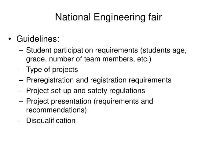 National Engineering fair