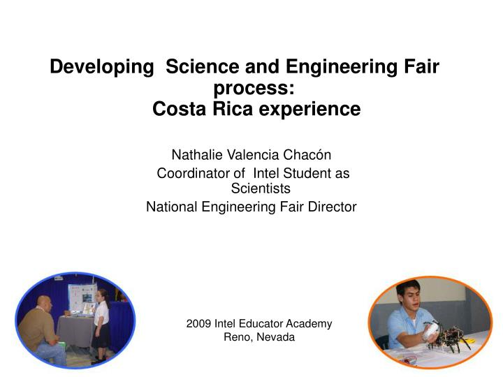 Developing  Science and Engineering Fair process: