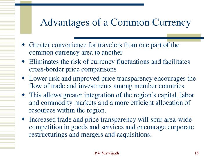 Advantages of a Common Currency