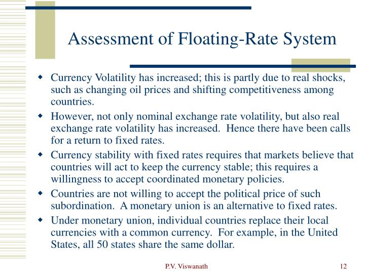 Assessment of Floating-Rate System