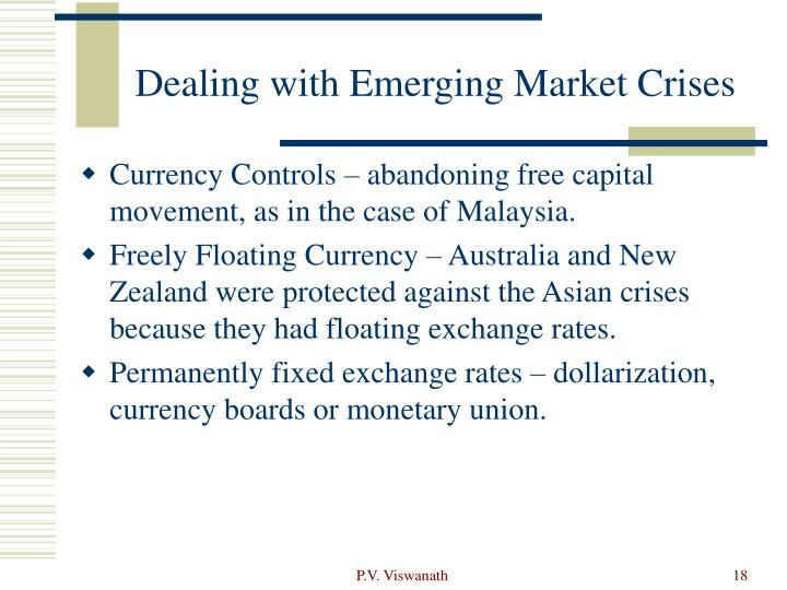 Dealing with Emerging Market Crises