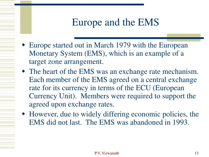 Europe and the EMS